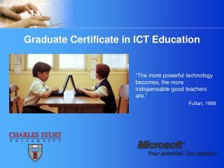 Graduate Certificate in ICT Education
