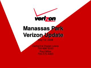 Manassas Park  Verizon Update