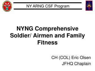 NYNG Comprehensive Soldier/ Airmen and Family Fitness
