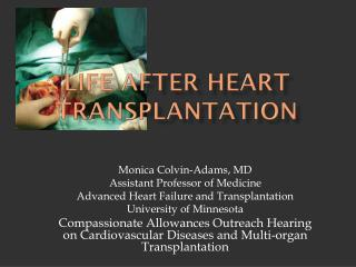 Life After Heart Transplantation