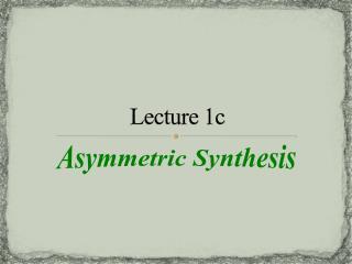 Lecture 1c