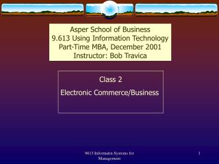 Class 2 Electronic Commerce/Business