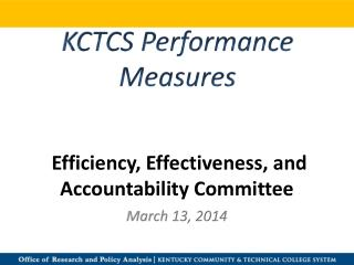 Efficiency, Effectiveness, and Accountability Committee