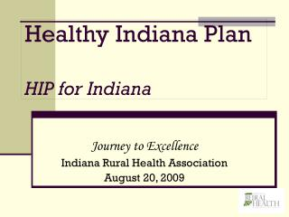 Healthy Indiana Plan HIP for Indiana