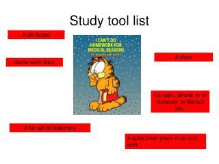 Study tool list