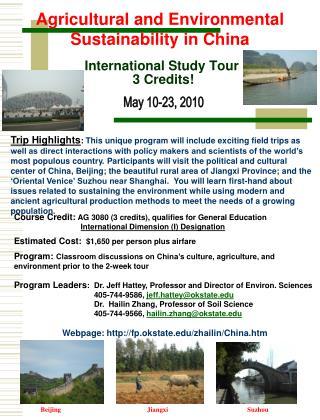 International Study Tour  3 Credits!