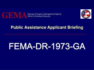 Public Assistance Applicant Briefing