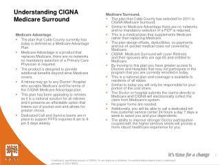 Understanding CIGNA Medicare Surround