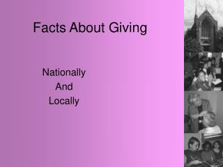 Facts About Giving