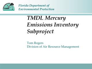 TMDL Mercury Emissions Inventory Subproject