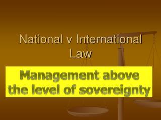National v International Law