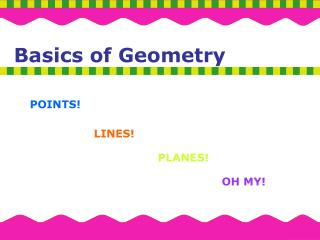 Basics of Geometry