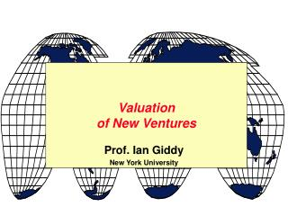 Valuation of New Ventures