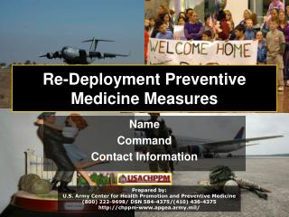 Re-Deployment Preventive Medicine Measures