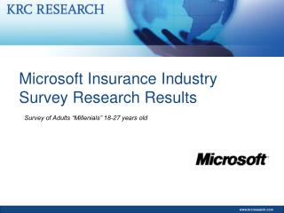 Microsoft Insurance Industry Survey Research Results