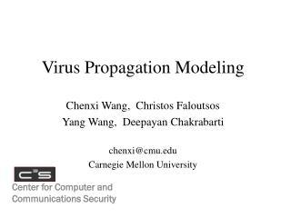 Virus Propagation Modeling