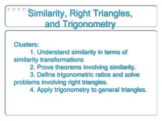 Similarity, Right Triangles,  and Trigonometry