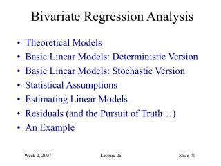 Bivariate Regression Analysis