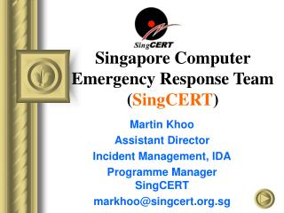 Singapore Computer Emergency Response Team SingCERT