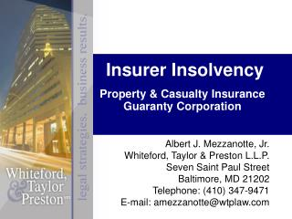Insurer Insolvency