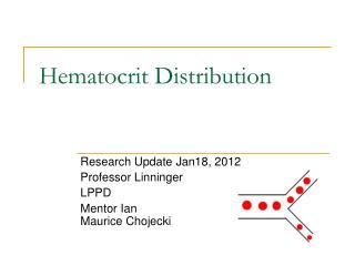 Hematocrit Distribution