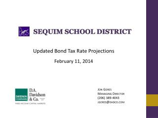 Updated Bond Tax Rate Projections February 11, 2014