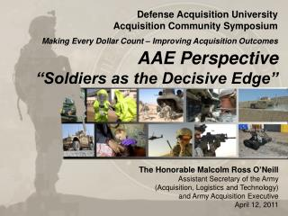 "AAE Perspective ""Soldiers as the Decisive Edge"""