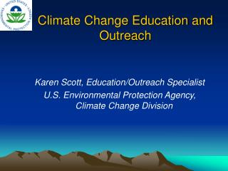 Climate Change Education and Outreach