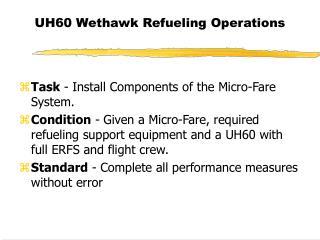 UH60 Wethawk Refueling Operations