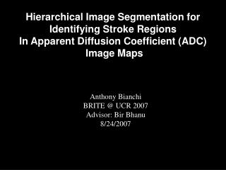 Hierarchical Image Segmentation for Identifying Stroke Regions