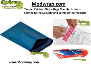 Tamper Evident Plastic Bags Manufacturers