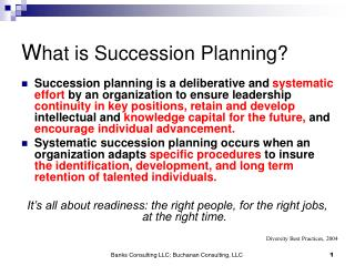 W hat is Succession Planning?