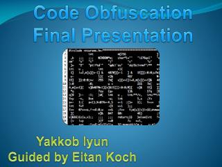 Code Obfuscation Final Presentation