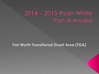 2014 – 2015 Ryan White Part A Award