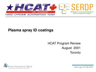 Plasma spray ID coatings