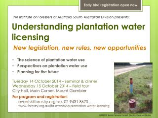 Understanding plantation water licensing