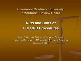 Claremont Graduate University Institutional Review Board