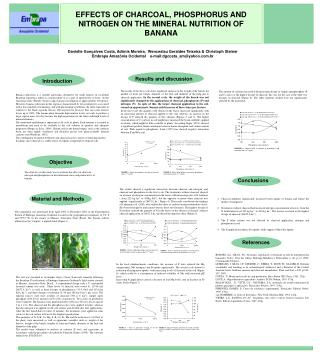 EFFECTS OF CHARCOAL, PHOSPHORUS AND NITROGEN ON THE MINERAL NUTRITION OF BANANA