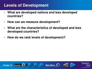Levels of Development