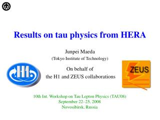 Results on tau physics from HERA