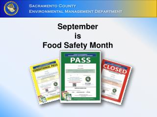 September  is  Food Safety Month