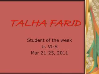 TALHA FARID