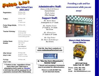 Ms. Dee Dee's After School & Summer Care Program