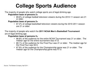 College Sports Audience