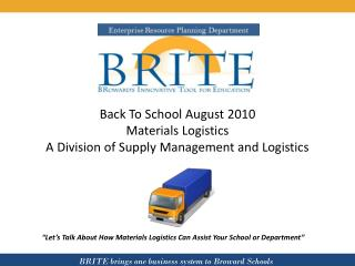 BRITE brings one business system to Broward Schools