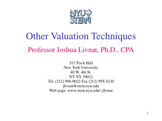 Other Valuation Techniques