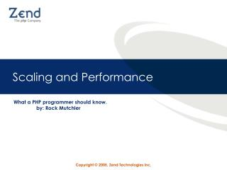 Scaling and Performance