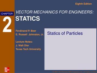 Statics of Particles