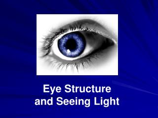 Eye Structure  and Seeing Light