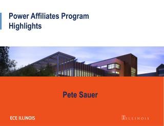 Power Affiliates Program Highlights